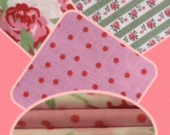 Fat Quarter Bundle 100% cotton- set of 5 per bundle approx 50cm x 55cm