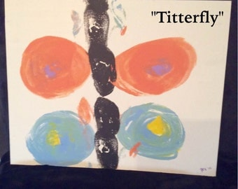 Titterfly- Original Art Work made with real breasts