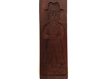 Dutch hand carved wooden speculaas mold #154A644X10