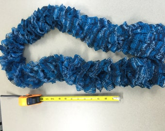 Shades of Blue Ruffle Scarf