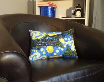 Starry Night Pillow Cover // Boudoir Pillow // Travel Pillow Case