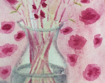 Flowering Branches in a Vase 4 x 6 Giclee Print