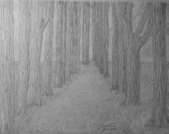 Into the Forest (Original Hand Drawn)