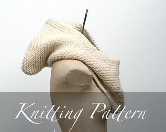 Knitting Pattern - The Inga Hood - Oversized Cowl Pattern - Hooded Cowl - Hooded Scarf Pattern - Infinity Scarf - Winter Hat - Knit Hood