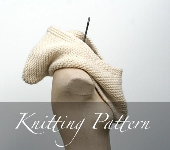 Oversized Hood Knitting Pattern : Knitting Pattern The Inga Hood Oversized Cowl Pattern