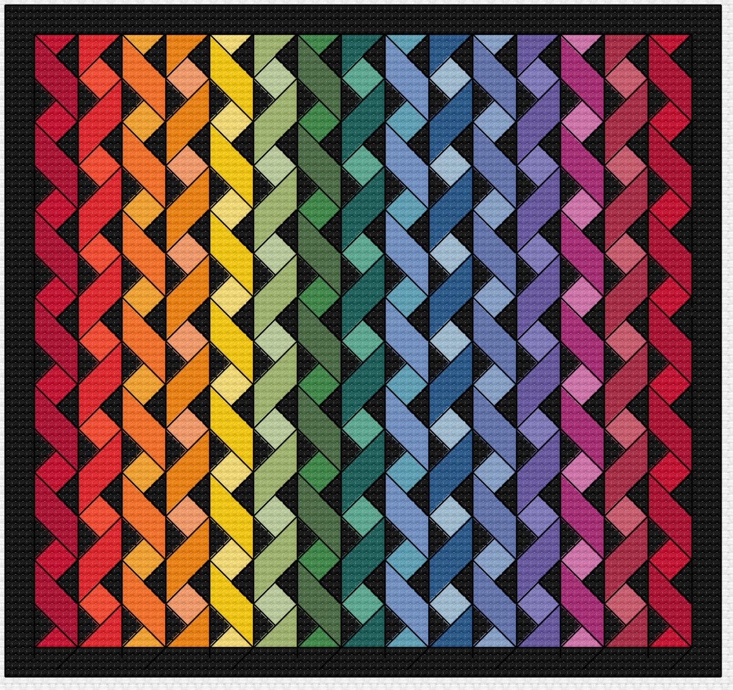 Quilting Patterns Stitching : Cross Stitch Pattern Quilt Block Ribbon Quilt