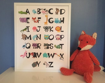 Animal Alphabet for a Child's Room