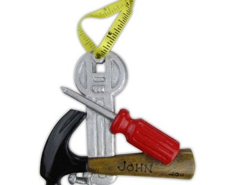 Handy Man Personalized Christmas Ornament
