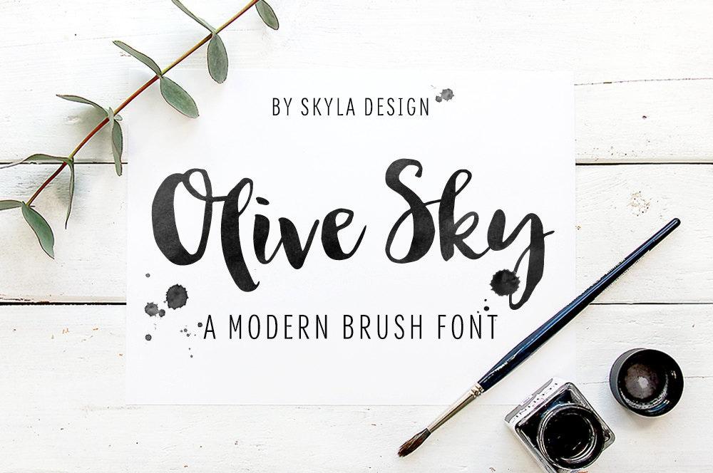Modern brush font digital download