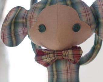 Funny stuffed monkey-funny monkey fabric