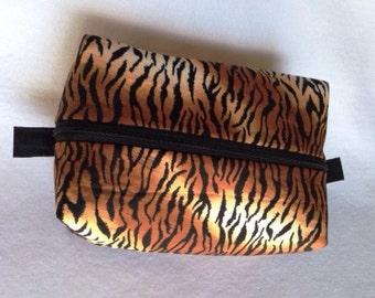 Tiger Zippered Makeup Bag Large