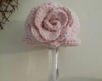 Sarah - Lil Pink Hat Pink Flower
