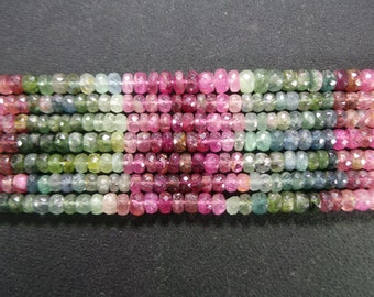 multi Tourmaline faceted 5 to 6 MM beads