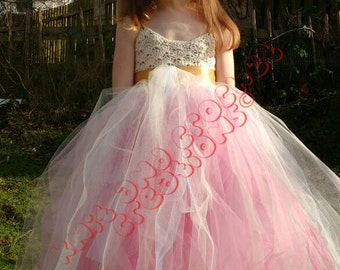 Gorgeous tulle flower girl tutu dress