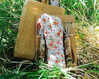 Gardening Tools Sack Bag With 2 Garden Tools And Pair Of Gloves,jardineria, Gardener