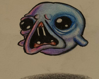 Hand drawn The haunt from the binding of isaac