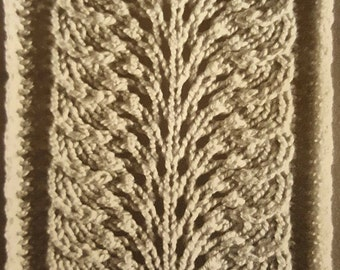 Feather & Fan Knit Pattern