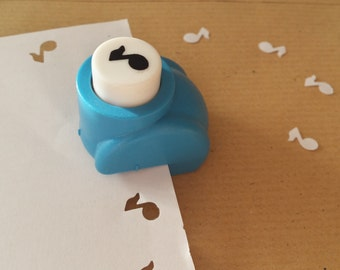 A hole punch pattern notes music scrapbooking