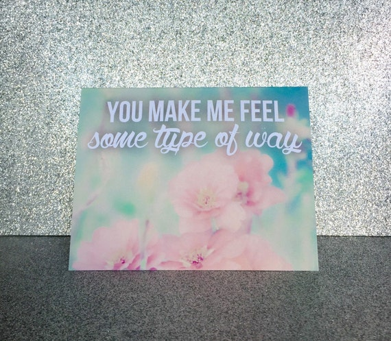 CLEARANCE Cards Rap Lyrics Greeting Card You By OhHowNeatShop