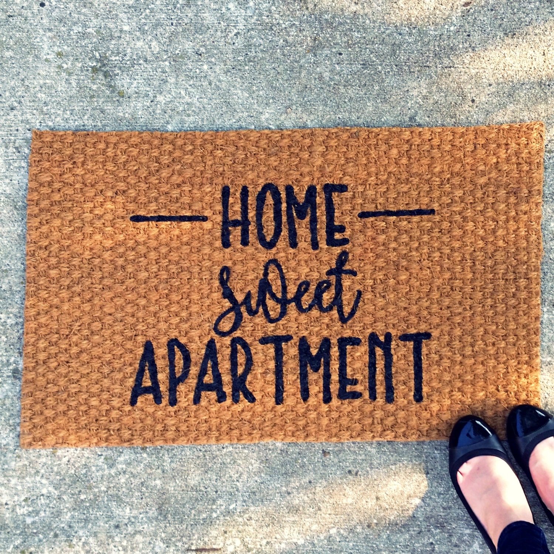 Home sweet apartment doormat outdoor welcome mat entry rug for Welcome home front door mats