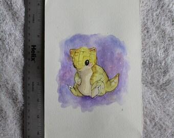 Sandshrew Watercolor
