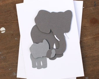 Baby Elephant and Mother Greeting Card