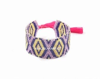 Japanese Pearl violet Cuff Bracelet