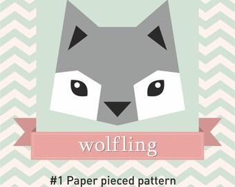 Paper Pieced Quilt Pattern - Wolfling