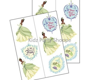 12ct Tiana Temporary Tattoos Disney Princess and the Frog  Birthday Party Treat Bags Favors