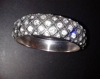 Vintage Chunky Diamante Studded Bangle