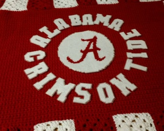 Alabama Crimson Tide afghan