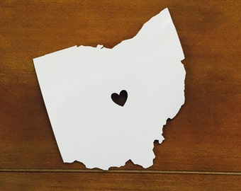 Heart Ohio window cling