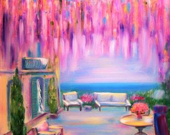 "Original painting ""Morning terrace"", SOLD"