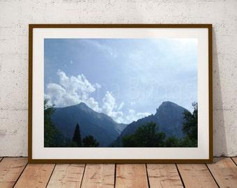 Mountain Wall Art Print Cabin Decor, Mountain Photography, Mountain Landscape, Mountain Range, Mountain Pictures, Mountain Life