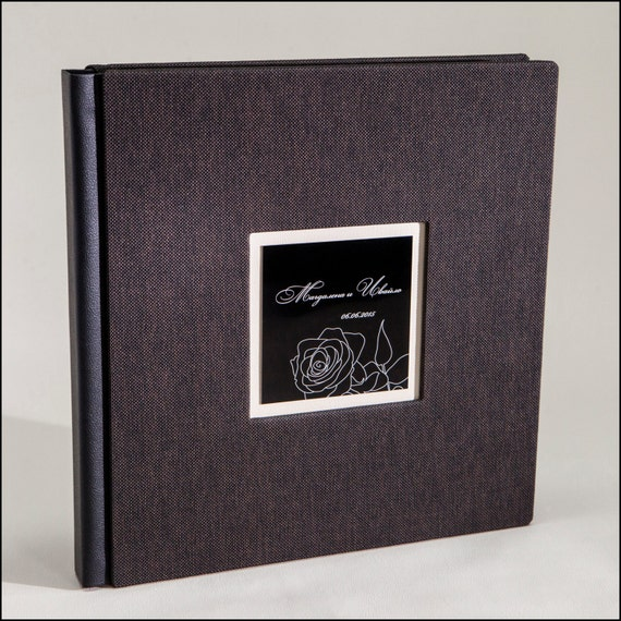 Personalised Wedding Photo Albums: Custom Wedding Album. Personalized Wedding Photo Album.Leather