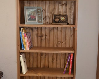 Solid Pine Bookcase, hand made, hand waxed.