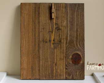 Rustic Wood Photo Board | Distressed Wood Photo Frame | Wood 8x10 Photo Display Board | Rustic Farmhouse Wedding Gift | Your Choice of Stain