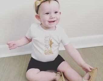 Baby Girl Onesie, Baby Onesie, Golden Boy, Golden Girl, Manitoba Onesie