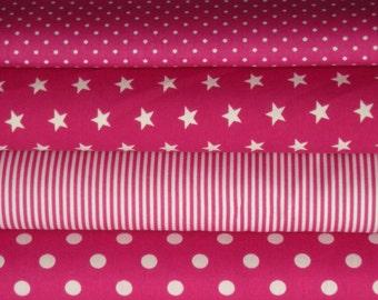 Fabric fuchsia 4 substances 50 x 145 cm