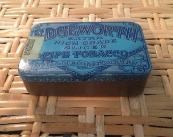 Edge worth pipe tobacco tin