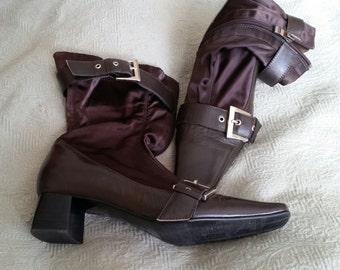 Vero Cuoio Italian Brown Leather Boots