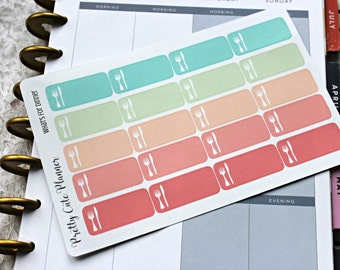 Reminder Stickers /Meal Planning Stickers / Planner Stickers / Planner Decor / ECLP Stickers / Happy Planner