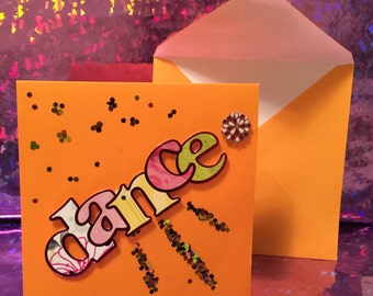 Stationery - Dance Bdazzle - Blank Note Card -  Adazzle4U Congratulations Stationery