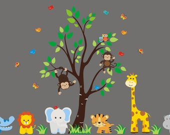 Zoo Animal Decals   Wall Decals Nursery   Nursery Wall Decals   Zoo Animal  Mural   Part 65