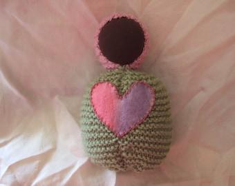Knitted Waldorf Steiner cushion baby doll
