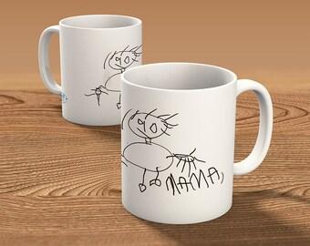 Personalized mug - boy drawing