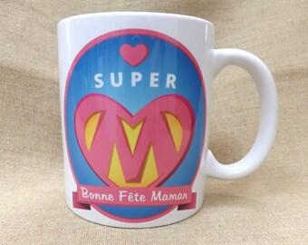 "Mug ""Super MOM"" mother"