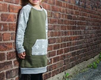 Tunic-khaki khaki Dress