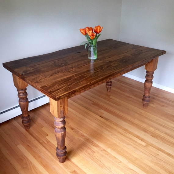 Classic Authentic Barnwood Baluster Leg Dining Table FREE SHIP