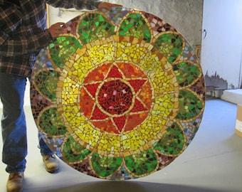 Mosaic Mandala Table